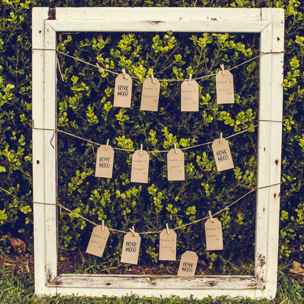 RUSTIC PICTURE FRAME SEATING CHART