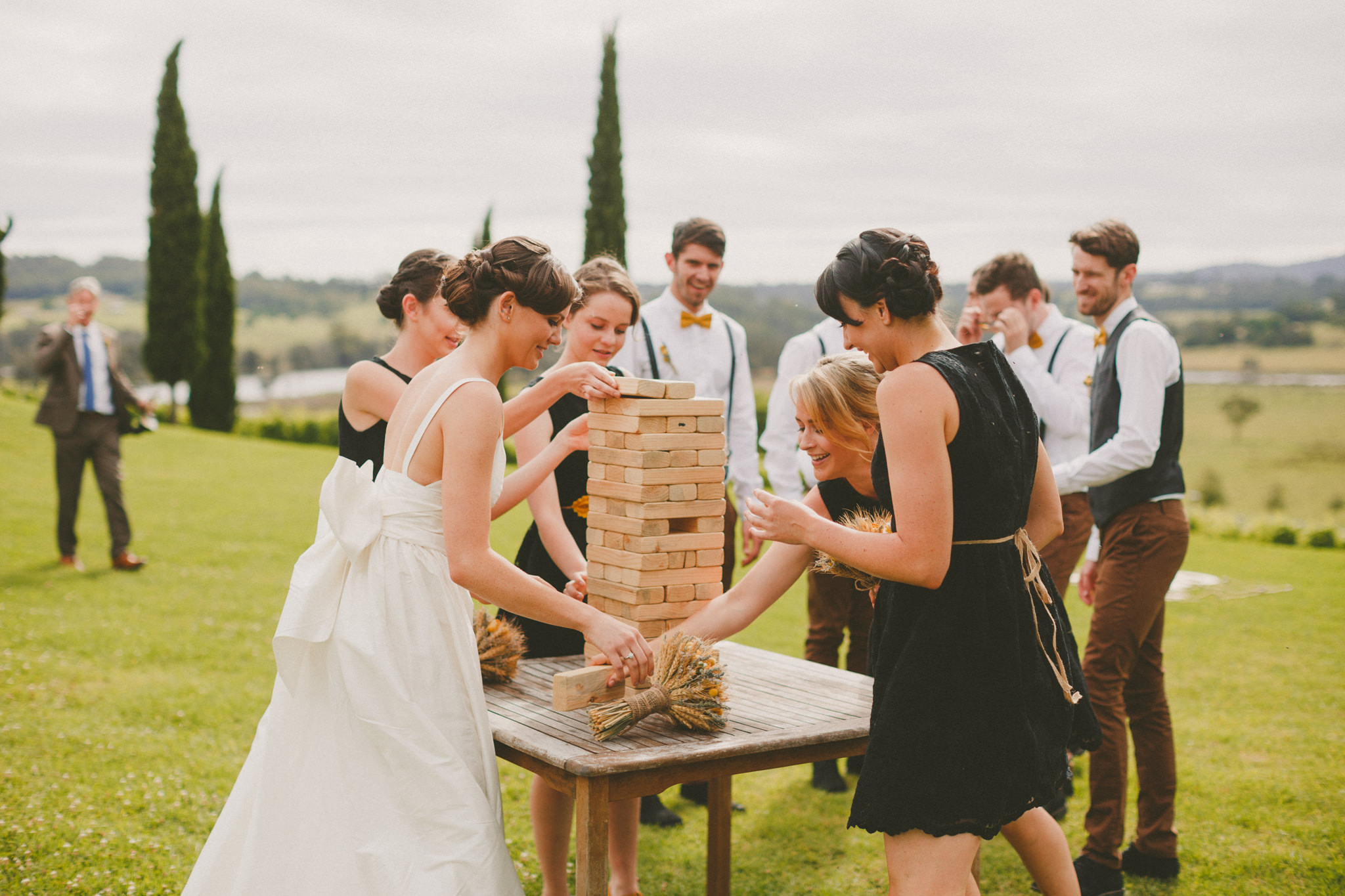 Giant Jenga is also a fun way to entertain your guests at the wedding reception