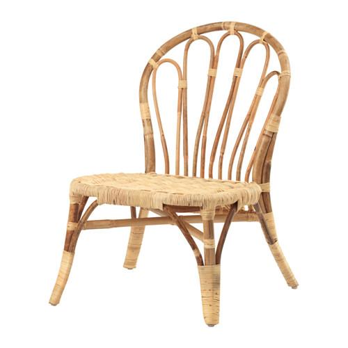 single rattan bamboo chair