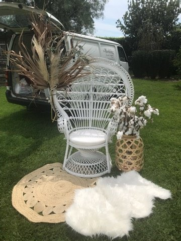 White Peacock Chair The Wedding Event Creators