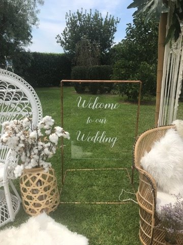 Welcome to our wedding perspex acrylic copper sign the wedding welcome to our wedding perspex acrylic copper sign junglespirit Choice Image