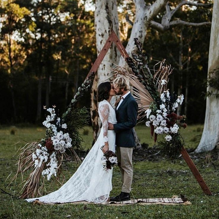 Wooden Triangle Arbour The Wedding Event Creators
