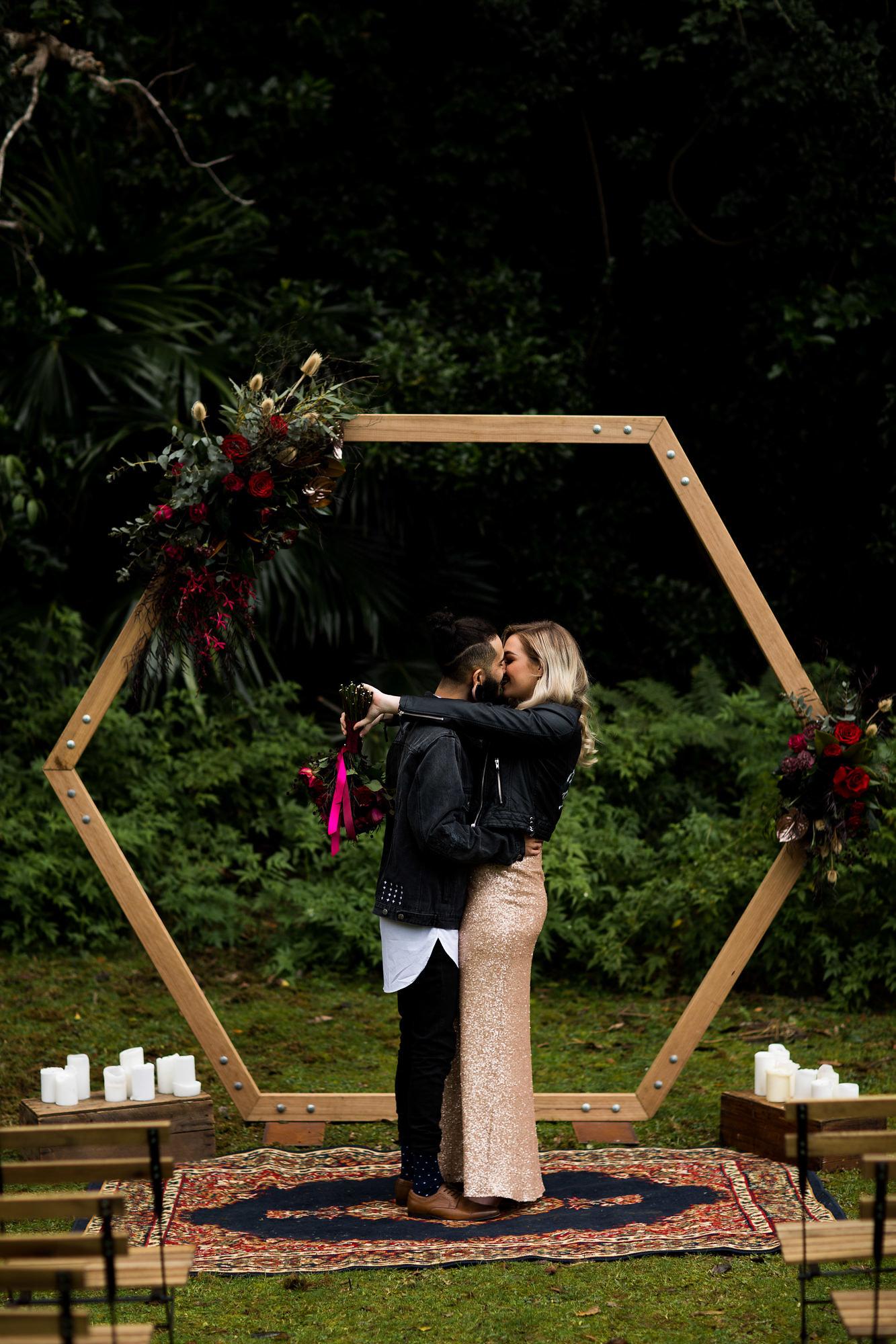 hexagon arbour  u2013 the wedding   event creators