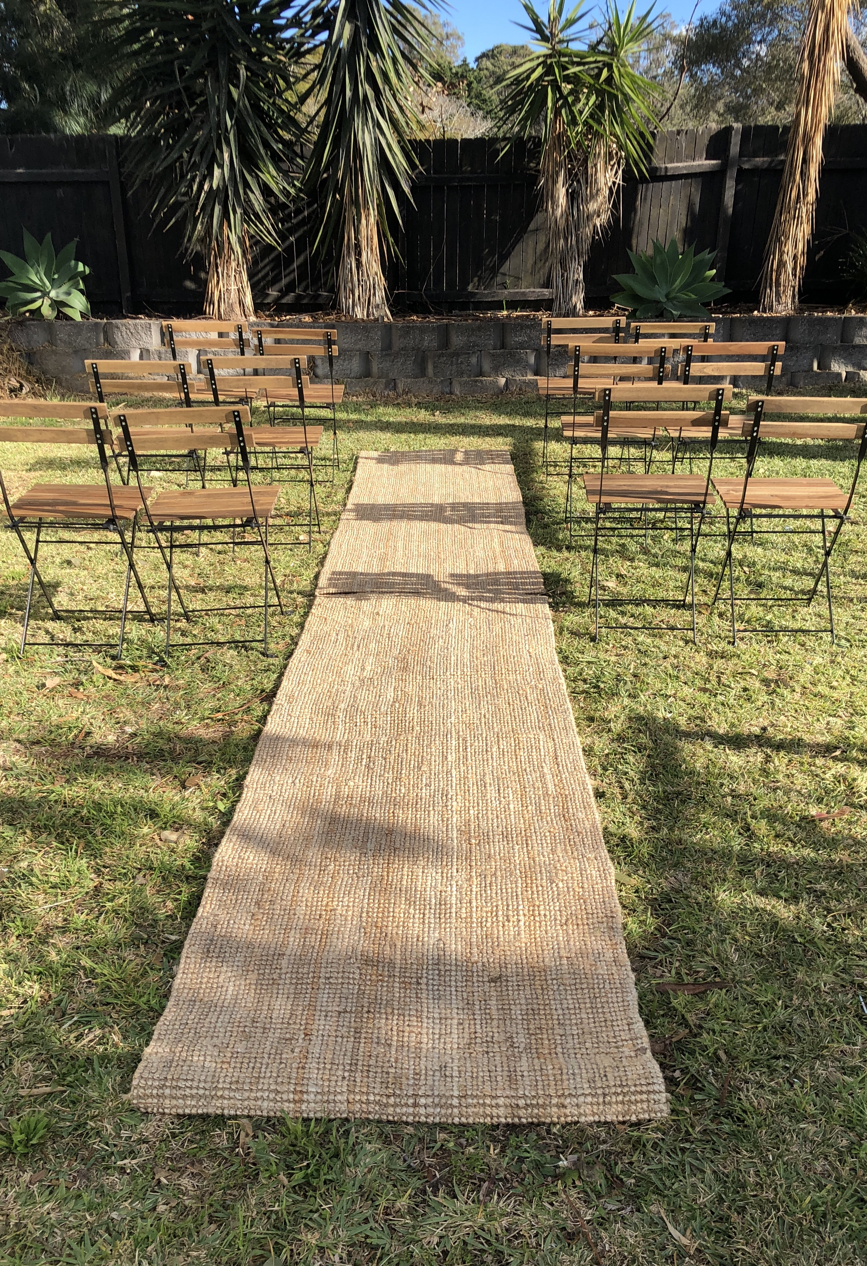 Jute Aisle Runner The Wedding Event Creators