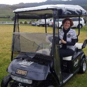shoshanna golf buggy staff photo