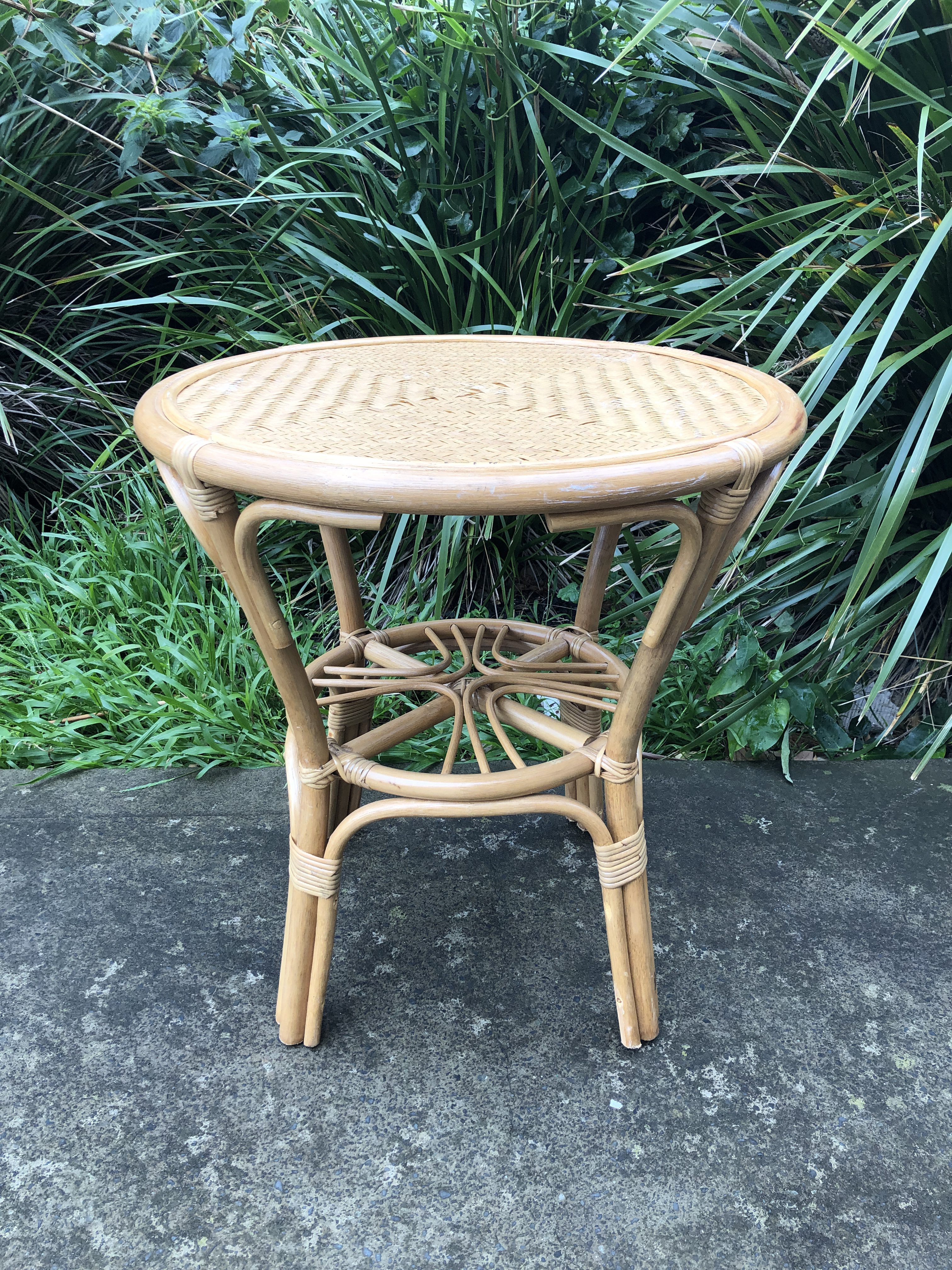 Large Bamboo Rattan Side Table The Wedding Event Creators